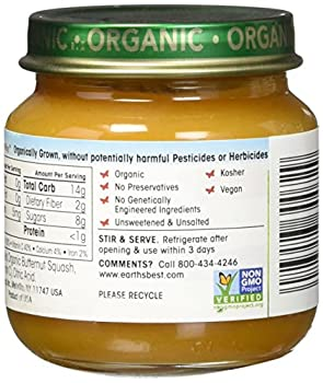 Earth's Best Organic Stage 2 Baby Food, Fruit Blends Variety Pack, 4 Ounce Jars, Pack Of 12 4