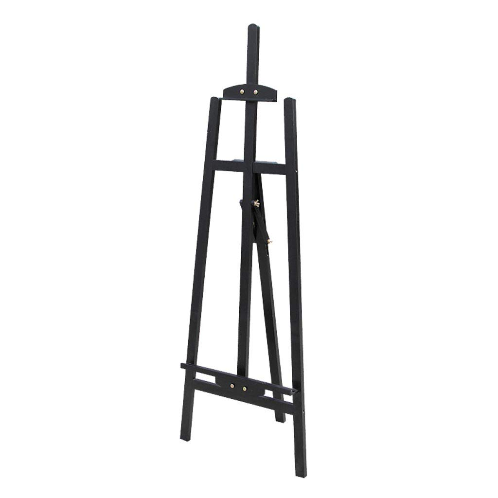 アーティスト三脚イーゼル1.45メートルパインスケッチポータブル耐久性スケッチイーゼル、広告ディスプレイスタンド (色 : 黒)  黒 B07MY1HD8Z