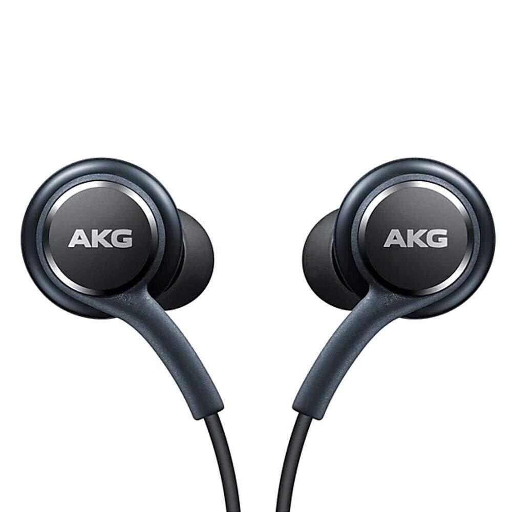 Official Samsung Galaxy S8 / S8+ Handsfree Headphones/Earphones - Tuned by AKG/Harman Kardon - Black (EO-IG955BSEGWW) - Bulk Packed, Frustration Free Packaging