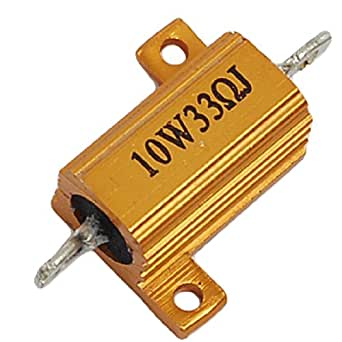 Uxcell a11070400ux0075 33 Ohm 5% Tolerance 10W Gold Tone Aluminum Resistor New