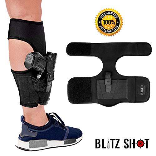 (	 Ankle Holster for Concealed Carry Universal Ankle Holster 2xStronger Velcro for Men and Women  Ankle Holster for Glock 43 42 36 26 19, Smith&Wesson M&P Shield Bodyguard, Ruger LCP LC9, Sig Sauer)