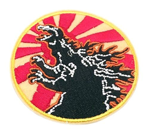 Godzilla Super Monster Logo Cartoon Comics Emroidered Iron