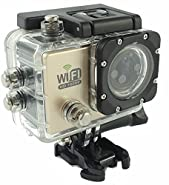 """TESSAN SJ6000 WiFi HD 1080P 2"""" LCD Display 170 Degrees A+HD Wide-Angle lens Waterproof Outdoor Helmet Sport DV Digital Video Camera Recorder Diving Bicycle Action Camera(gold)"""