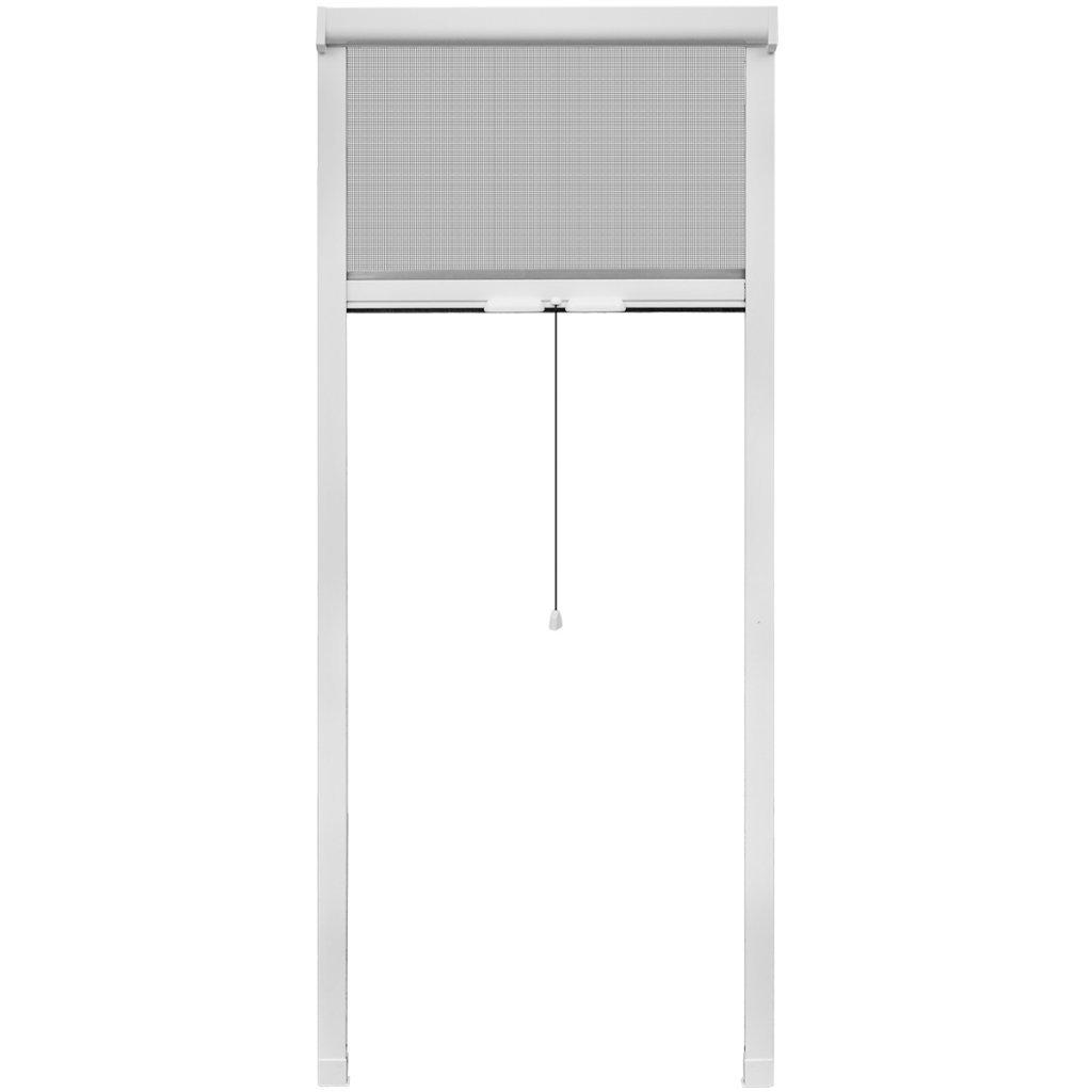 Festnight moustiquaire fenetre Enroulable moustiquaire pour fenê tre Blanc 80 x 170 cm
