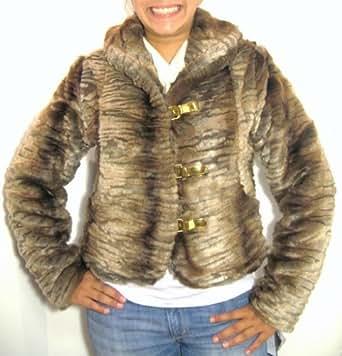 Amazon.com: Baby Phat Fur Winter Coat in Brown (XLarge