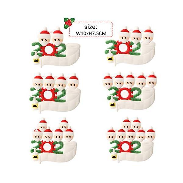 Hbsite Ornamento di Natale Ciondoli di Natale 2020 Quarantena Personalizzata Famiglia Ornamenti per L'Albero di Natale Decorazione Sopravvissuto Regalo Creativo Personalizzato (Famiglia di 3 Persone) 2 spesavip