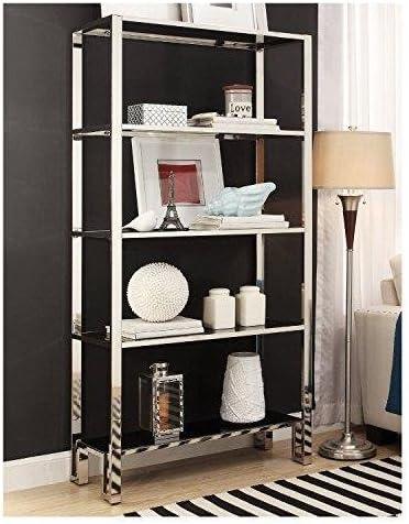 Reviewed: ModHaus Modern Mirror Finish Chrome Bookcase