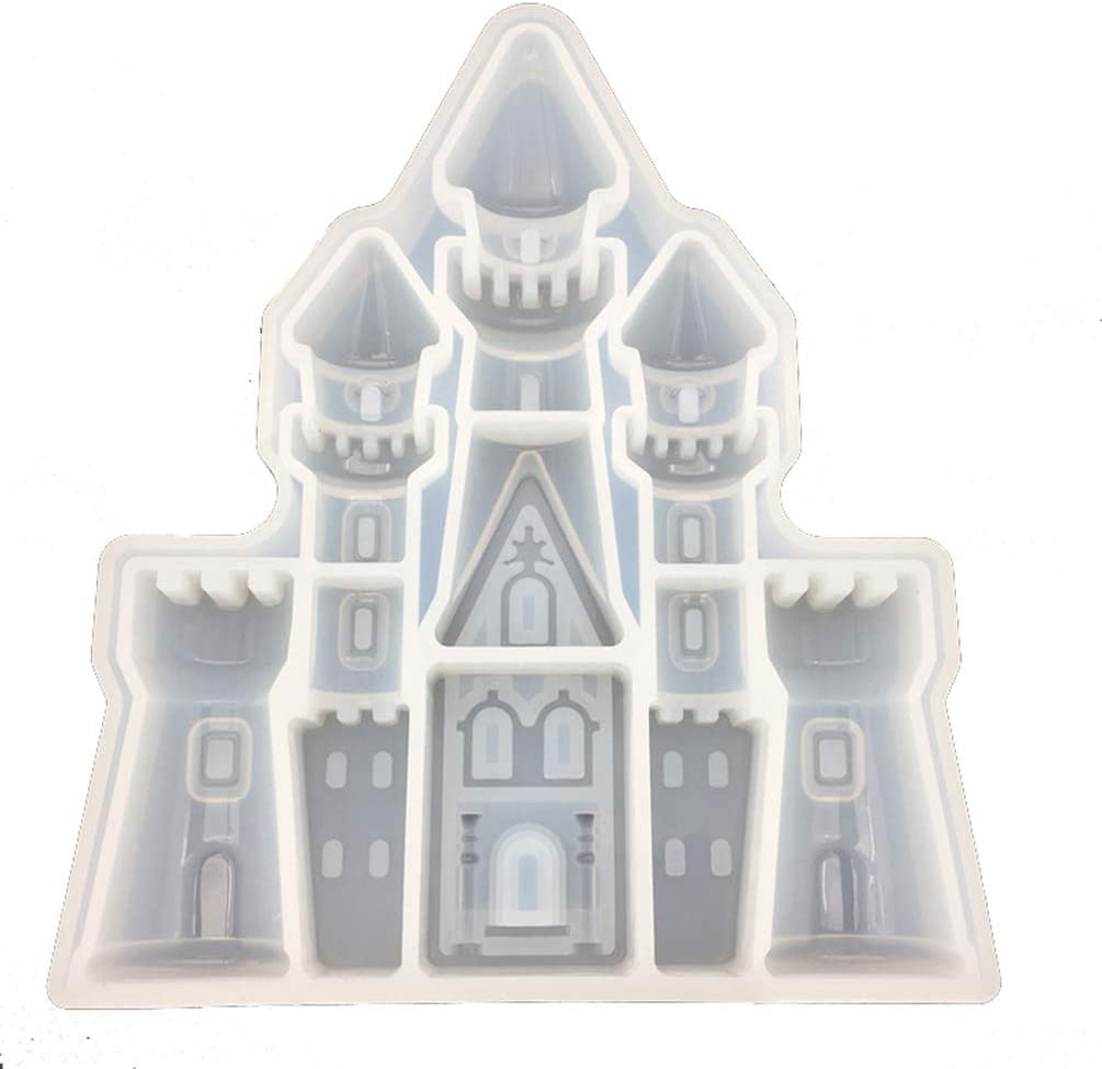 Hongma Castle Modeling Fondant Sugarcraft Cake Mould DIY 3D Soap Fimo Clay Tools Silicone Molds for Cake Baking