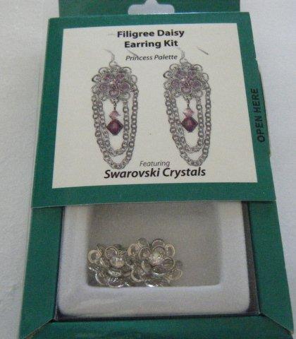 (Swarovski Filigree Clear Crystal Daisy Earring Kit)