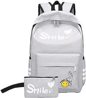 Midsy Femmes Backpack 15.6 Pouces Laptop Sac à Dos Deux Pièces Ensemble Sac Ordinateur Homme Sac Randonnée Mignonne Oxford Rucksack