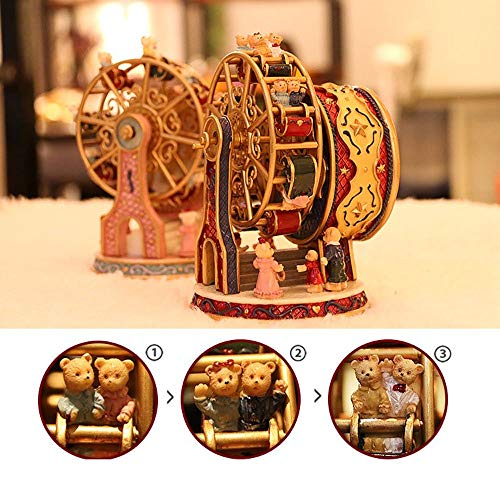 ASNOMY Personalized Rotating Ferris Wheel Music Box for Girls or Boys' Birthday, Music Box Melody Canon(Canon) by ASNOMY (Image #2)