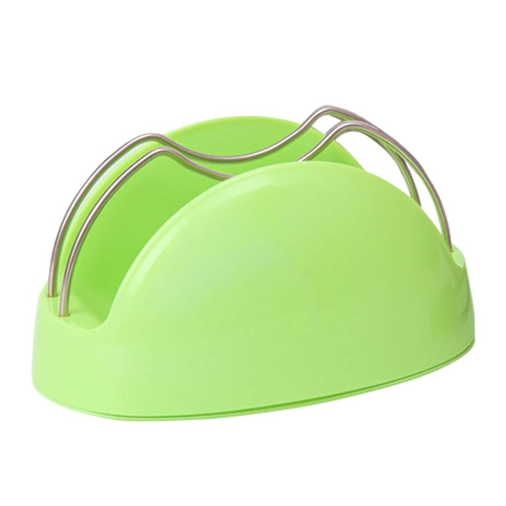 YHY Cover Organizer Small PP Free Punching Lid Organizer Home Multi-function Lid Storage Rack (Color : GREEN, Size : 2012.510.5CM) by YHY
