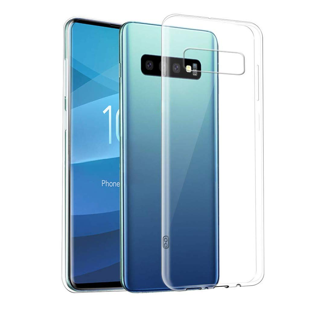 Kasien Samsung S10/S10 Plus Case Cover, Shockproof Slim Thin Clear Back Hybrid Hard Case Cover for Samsung S10/S10 Plus (For Samsung S10-6.1 Inch)