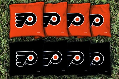 Victory Tailgate 8 Philadelphia Flyers NHL Cornhole Game Bag Set (8 Bags Included, Corn-Filled)