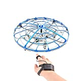 RONSHIN Mini Gesture Sensing Aircraft Four Axises Anti-Impact Flying Tool Blue (with Watch Remote Control)