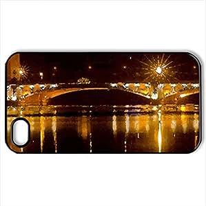 Golden Bridge - Case Cover for iPhone 4 and 4s (Bridges Series, Watercolor style, Black)
