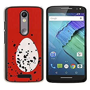 LECELL--Funda protectora / Cubierta / Piel For Motorola MOTO X3 3rd -- Huevo Rojo Blanco Spots Pascua Rojo Blanco --