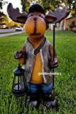 Cheap MOOSE SOLAR LIGHT STATUE MOOSE SOLAR FIGURINE
