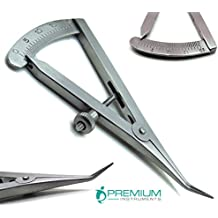 """Dental Castroviejo Caliper 0 to 20 mm Angled 3.25"""" Surgical Premium Instruments"""