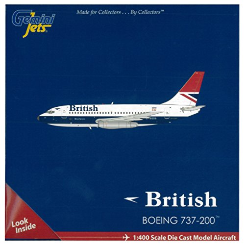Gemini Jets British Airways 737-200 Aircraft (Negus C/S) (1:400 Scale)