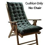 Jiyaru Deck Chair Cushion Comfy Lounge Indoor Outsoor Seat Pad Garden Thicken Mat Army Green