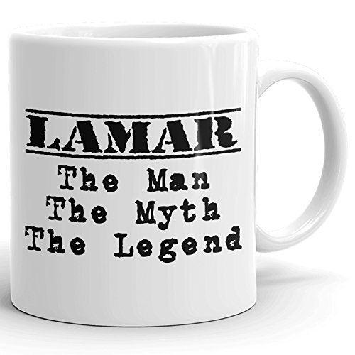 Best Personalized Mens Gift! The Man the Myth the Legend - Coffee Mug Cup for Dad Boyfriend Husband Grandpa Brother in the Morning or the Office - L Set 1