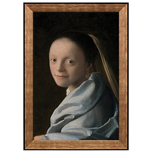 Study of a Young Woman by Johannes Vermeer Framed Art