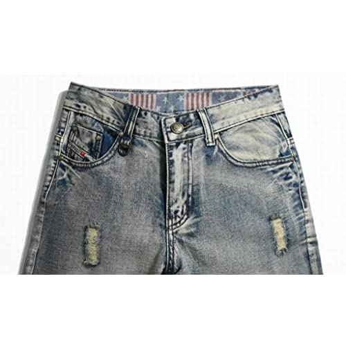 YUNY Womens High Waist Ripped Stretchy Destroyed Midi Denim Jeans Shorts