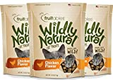 Fruitables Wildly Natural 2.5 Ounce Grain Free Chicken Treat for Cats - Pack of 3 (7.5 Ounces Total)
