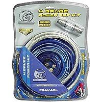BULLZ AUDIO 4 Gauge Car Amplifier Amp Installation Power Wiring Kit | EPAK4BL