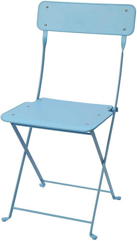 Sedie Pieghevoli Da Giardino Ikea.Ikea Asia Saltholmen Sedia Pieghevole Da Esterno Colore Blu Amazon It Giardino E Giardinaggio