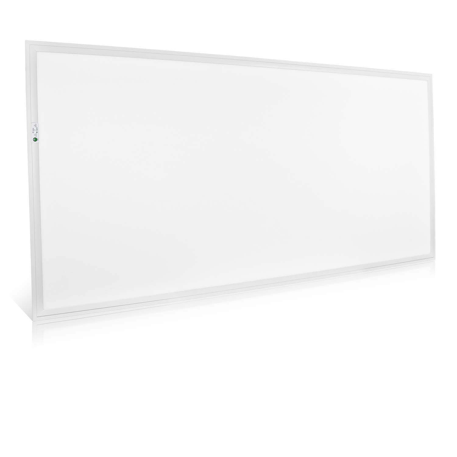Luxrite 2x4 LED Flat Panel Light with Emergency Battery Backup, 60W 5000K Bright White, 0-10V Dimmable, 6960 Lumens, LED Drop Ceiling Lights, 100-277V, DLC and UL Listed, Ultra Thin Edge-Lit