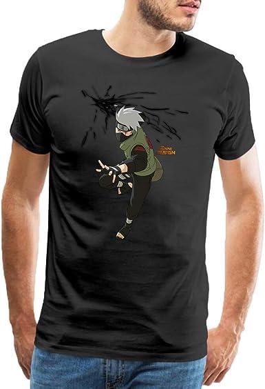 QUATEE Anime Camiseta para Hombre Naruto Kakashi Hatake Printed Algodón T Shirt Blusas Camisas Tops: Amazon.es: Ropa y accesorios