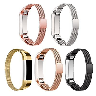 HOMEKE Milanese Loop Band for Fitbit Alta/Alta HR, Stainless Steel Woven Replacement Sport Wristband