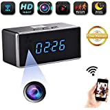 JLRKENG WIFI Spy Hidden HD1080P Camera Clock Night Vision Nanny Cam with Motion Detection Loop Recording for Baby Caring Home Security and Office