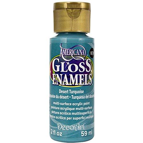 DecoArt Americana Gloss Enamel Paint, 2-Ounce, Desert Turquoise