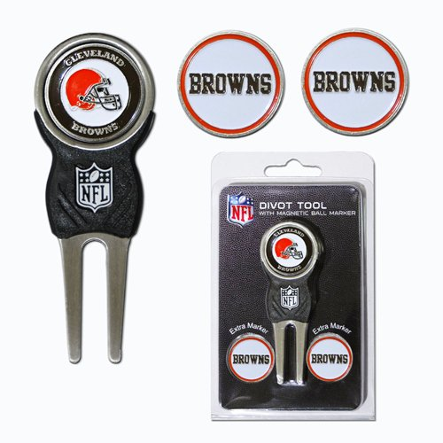 NFL Marker Signature Divot Tool - Pack of 3 NFL Team: Cleveland Browns Cleveland Browns Ball Marker