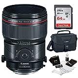 Canon TS-E 90mm f/2.8L Macro Tilt-Shift Lens + 64GB Memory Card 100ES DSLR Camera Bag + Lens Cleaning