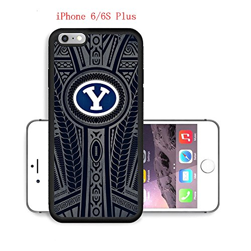 iPhone 6 Plus 6S Plus Case,Byu Cougars Football 22 Drop Protection Never Fade Anti Slip Scratchproof Soft Rubber TPU Black Case 5.5 inch