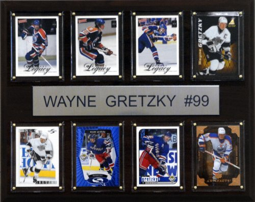 NHL Wayne Gretzky Edmonton Oilers 8 Card Plaque