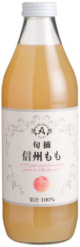 Alps ripe peach Shinshu not from-concentrate juice 1L