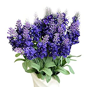 Hide on bush Artificial Lavender Bush Bouquet Patio Garden Home Wedding Decor Fake Flower 47