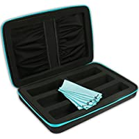 eD ELITE SIX PACK STORAGE CASE with 6 Microfiber Cleaning Cloths for Active 3D glasses with foldable arms by eDimensional Elite Series
