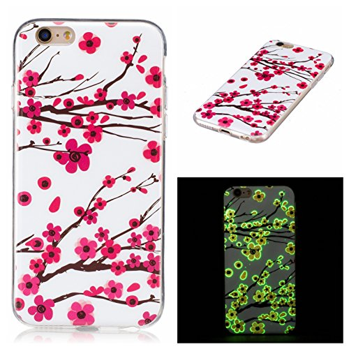 Voguecase® für Apple iPhone 6/6S 4.7 hülle, Schutzhülle / Case / Cover / Hülle / TPU Gel Skin mit Nachtleuchtende Funktion (Pflaumen 19) + Gratis Universal Eingabestift