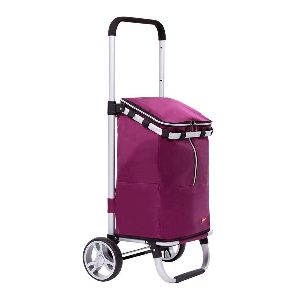 ショッピングキャリー 老人用トロリーショッピングカート折りたたみ式階段車 3段伸縮式ショッピングカート家庭用ポータブル荷物カート50kg耐えることができます (Color : Purple, Size : 97.5*45*38.5cm) 97.5*45*38.5cm Purple B07Q12H8JW