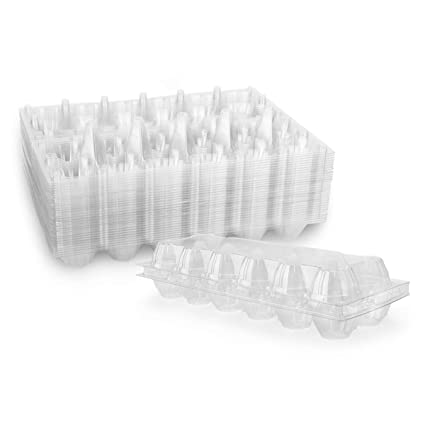 Buy Katfort Egg Cartons 30 Packs Plastic Clear Egg Cartons For 12 Eggs Ideal For Groceries Farmers Markets Display And Eggs Storage Online At Low Prices In India Amazon In
