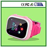 ROYALFiT GPS/LBS/Wifi Position Geo-fence Kids Tracking Watch DS-C602 With IOS Android APP Pink