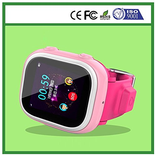 Royalfit Gps Lbs Wifi Position Geo Fence Kids Tracking Watch Ds C602 With Ios Android App Pink