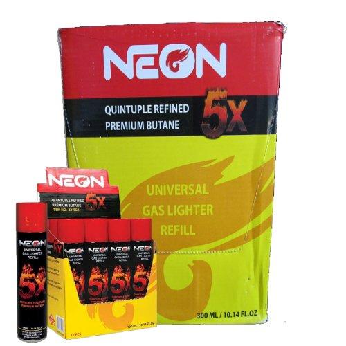 Master Case Neon 5x Butane Near Zero Impurities (96 Cans)