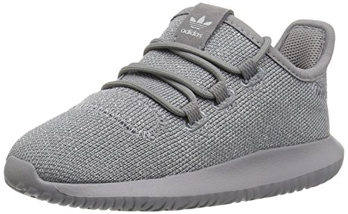 Infants Leather Trainers - adidas Originals Boys' Tubular Shadow I Running Shoe, Grey Three/Metallic Silver, 4 M US Toddler